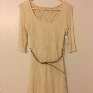 Soft Ivory Sweater Dress